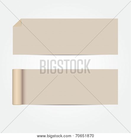 Blank Brownish Cards With Shadows Vector Illustration