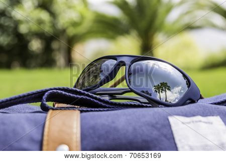 Polarized Sunglasses And Backpack