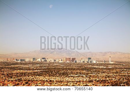 Overview Of Downtown Las Vegas In The Morning