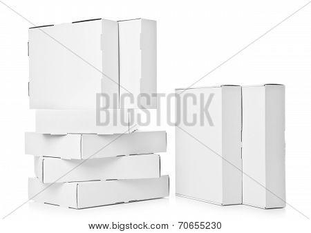 Several cardboard Box