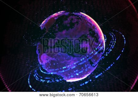 High technology globe