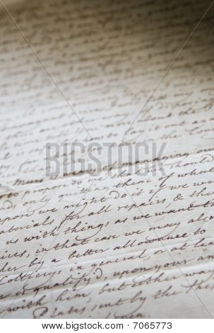 Old Handwritten Buisness Letter
