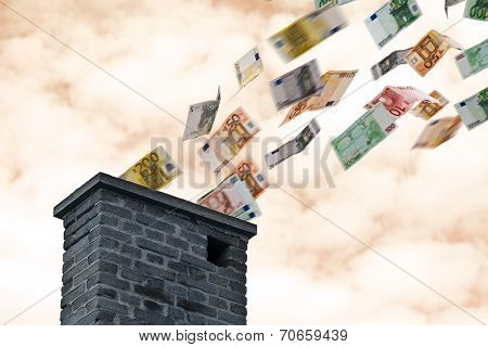 Euro Money Flies Up The Chimney