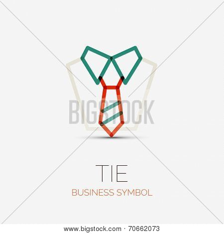 tie and shirt company logo design, business symbol concept, minimal line style