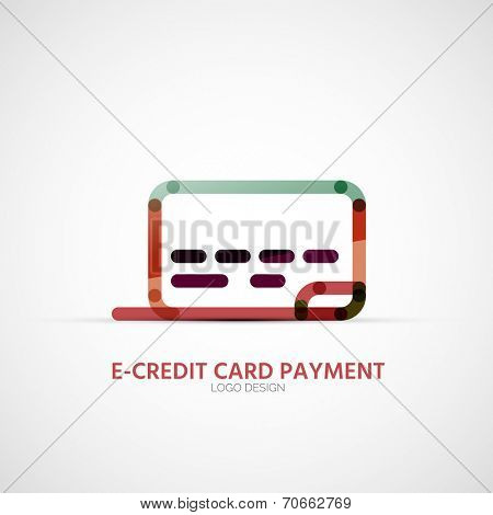 credit card company logo design, business symbol concept, minimal line design