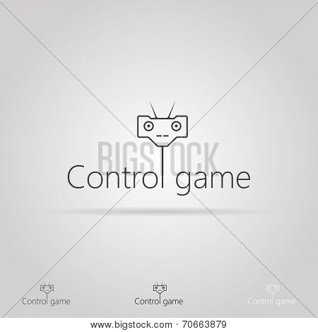 Vector illustration with icon for game control