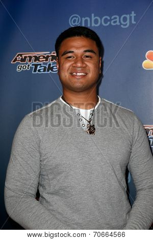 NEW YORK-AUG 20: Singer Paul Ieti attends the backstage post-show red carpet for NBC's 'America's Got Talent' Season 9 at Radio City Music Hall on August 20, 2014 in New York City.