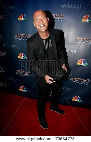 NEW YORK-AUG 13: Comedian Howie Mandel attends the backstage post-show red carpet for NBC's 'America's Got Talent' Season 9 at Radio City Music Hall on August 13, 2014 in New York City.