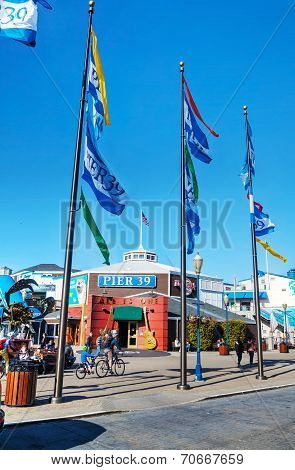 Famous Pier 39 At Port Of San Francisco, California