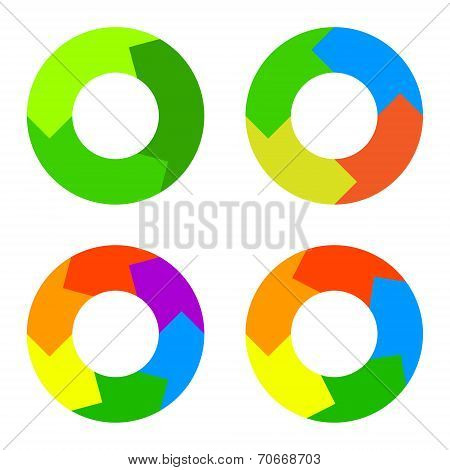 Circle Diagram for Infographics. Vector.