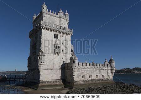 Tower Of Belem On Sunset, Lisbon, Portugal