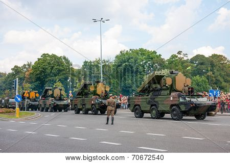 Air Defense Missile System 9K33 Osa vehicles conwoy