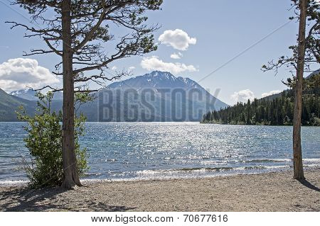 Scenic Lake In The Yukon Territory