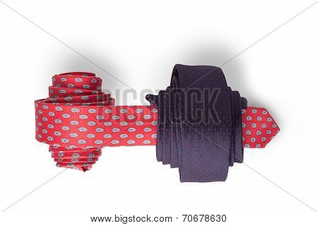 Red and blue ties