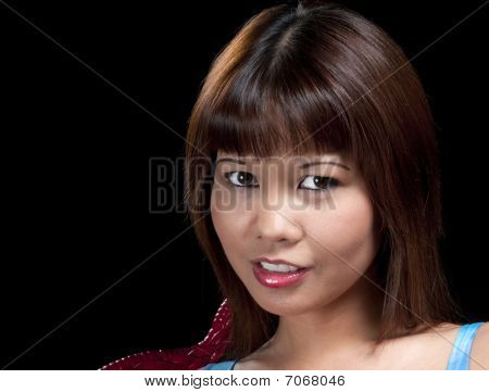 Asiatic Girl Smiling