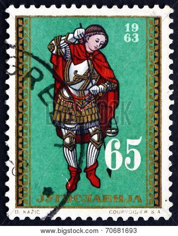 Postage Stamp Yugoslavia 1963 Archangel Michael