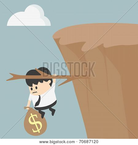 Fiscal CliffIllustration Cartoons concepts Fiscal cliff