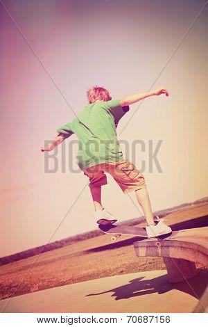Skateboarder.Instagram effect