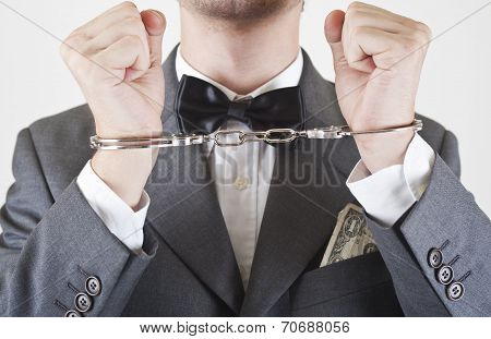 Portrait Of Withe Collar Arrested