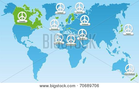 Global Peace Index Symbols