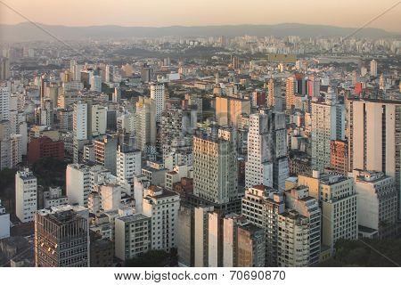 Sunset over Sao Paulo