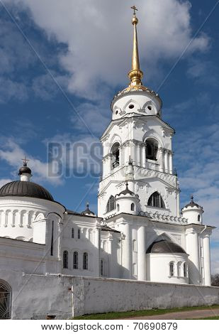 Belfry of the Assumption Cathedral in Vladimir, Russia. The belfry was built in 1810