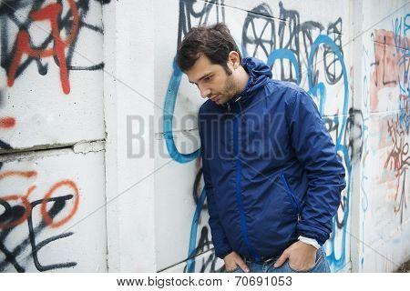 Portrait Of Depressed Man