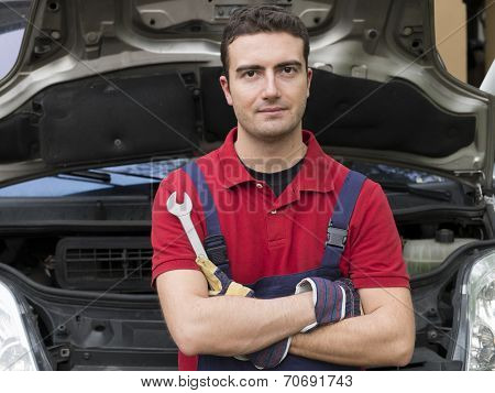 Portrait Of Mechanic