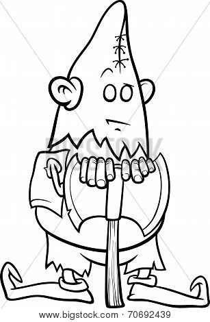 Executioner With Ax Coloring Page