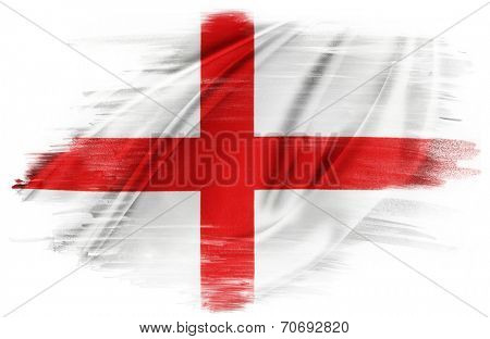 St George's Cross flag on plain background