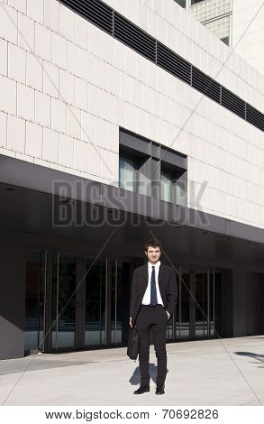 Young Manager Outside His Office