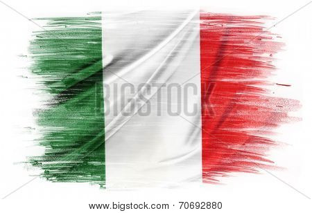Italian flag on plain background