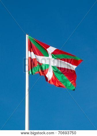 Ikurrina. Basque Country Flag. Spain.