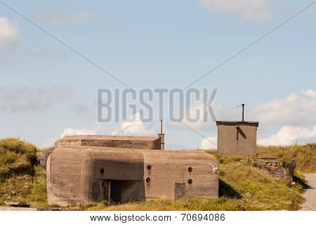 German Wwii Bunker In The Dunes Of Ostend Belgium