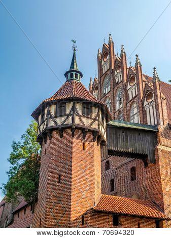 Teutonic castle in Malbork, Pomerania region, Poland
