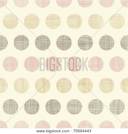 Vintage textile polka dots seamless pattern background