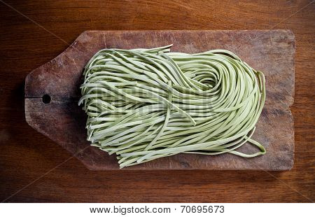Green pasta.