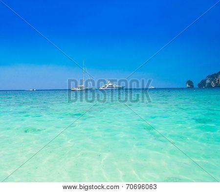 Luxury Cruise Traveling Overseas