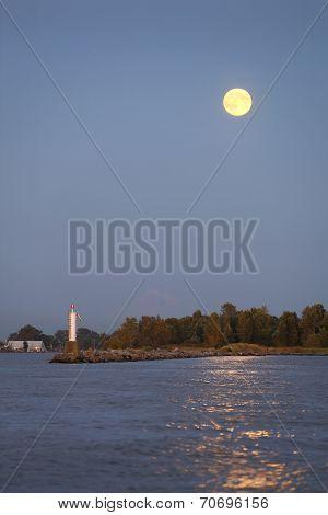 Full Moon Dusk, Steveston Harbor