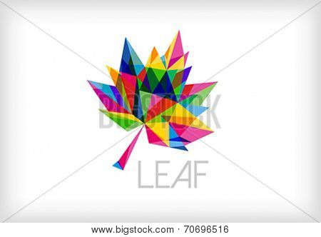 leaf abstract creative icon - vector