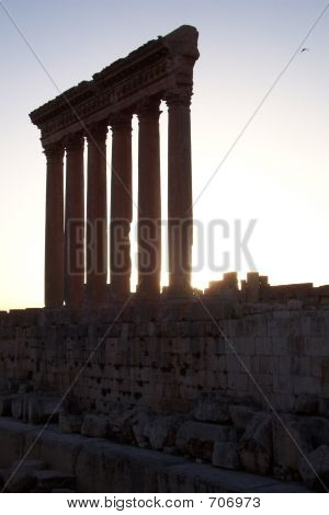 Roman Columns, Silhouette