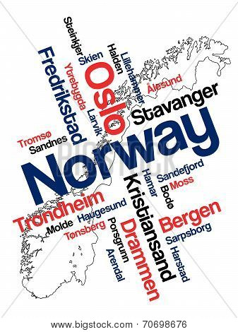 Norway Map And Cities
