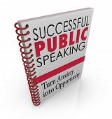 picture of public speaking  - Successful Public Speaking words on a book cover for advice - JPG