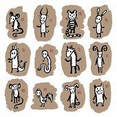 pic of chinese zodiac animals  - Chinese Zodiac - JPG