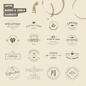 foto of food logo  - Set of vintage style elements for labels and badges for coffee - JPG