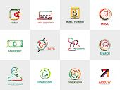 pic of cash  - collection of 12 company logos - JPG