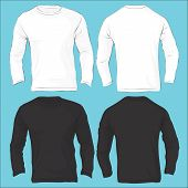picture of v-neck collar  - Vector illustration of men - JPG