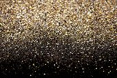 stock photo of flashing  - Christmas Gold and Silver Glitter background - JPG