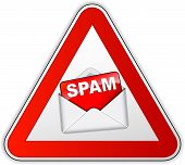 stock photo of no spamming  - illustration of spam sign on white background - JPG