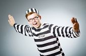 image of inmate  - Funny prison inmate in concept - JPG